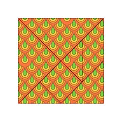 70s Green Orange Pattern Acrylic Tangram Puzzle (4  X 4 )