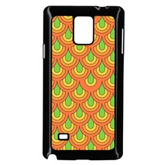 70s Green Orange Pattern Samsung Galaxy Note 4 Case (Black)