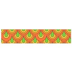70s Green Orange Pattern Flano Scarf (small)