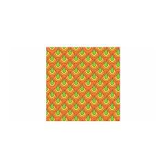 70s Green Orange Pattern Satin Wrap