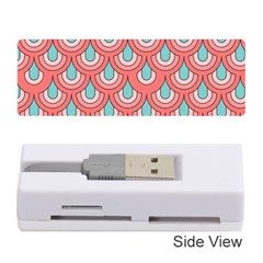 70s Peach Aqua Pattern Memory Card Reader (Stick)