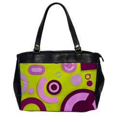 Yellow Pink Vector Pattern  Office Handbags