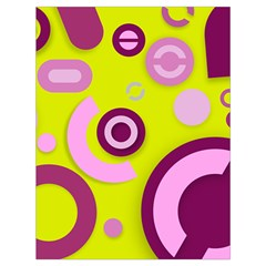 Yellow Pink Vector Pattern  Drawstring Bag (large)