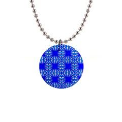 Retro Blue Pattern Button Necklaces