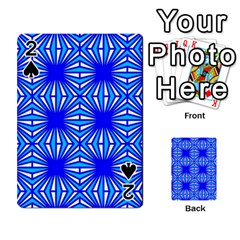 Retro Blue Pattern Playing Cards 54 Designs