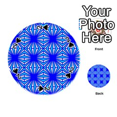 Retro Blue Pattern Playing Cards 54 (round)