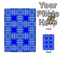Retro Blue Pattern Multi-purpose Cards (Rectangle)