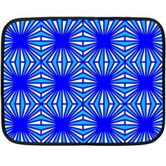 Retro Blue Pattern Fleece Blanket (Mini)