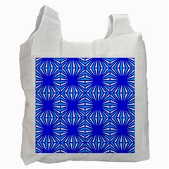 Retro Blue Pattern Recycle Bag (one Side)