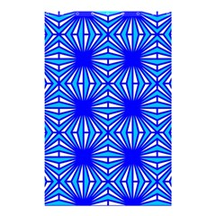 Retro Blue Pattern Shower Curtain 48  x 72  (Small)