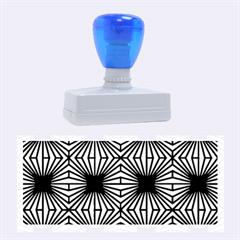 Retro Blue Pattern Rubber Stamps (Large)