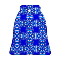 Retro Blue Pattern Ornament (Bell)