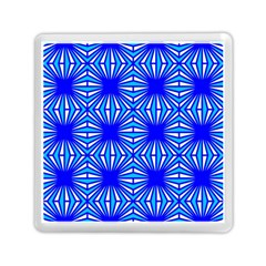 Retro Blue Pattern Memory Card Reader (Square)