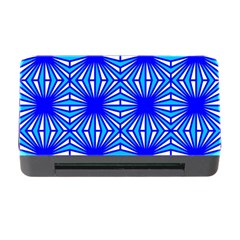 Retro Blue Pattern Memory Card Reader With Cf