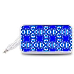 Retro Blue Pattern Portable Speaker (White)
