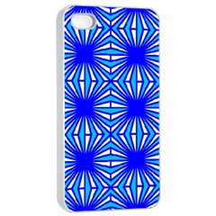 Retro Blue Pattern Apple Iphone 4/4s Seamless Case (white)