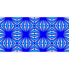Retro Blue Pattern YOU ARE INVITED 3D Greeting Card (8x4)