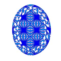 Retro Blue Pattern Ornament (oval Filigree)