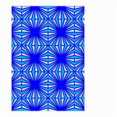Retro Blue Pattern Small Garden Flag (two Sides)
