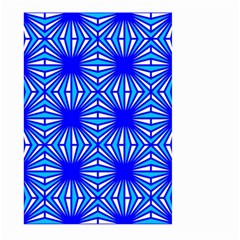 Retro Blue Pattern Large Garden Flag (Two Sides)
