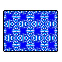 Retro Blue Pattern Double Sided Fleece Blanket (Small)