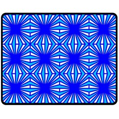 Retro Blue Pattern Double Sided Fleece Blanket (Medium)
