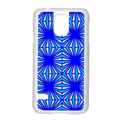 Retro Blue Pattern Samsung Galaxy S5 Case (white)