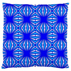 Retro Blue Pattern Large Flano Cushion Cases (Two Sides)