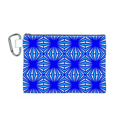 Retro Blue Pattern Canvas Cosmetic Bag (M)