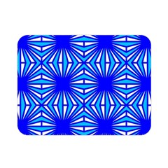 Retro Blue Pattern Double Sided Flano Blanket (Mini)