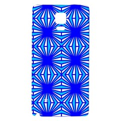 Retro Blue Pattern Galaxy Note 4 Back Case