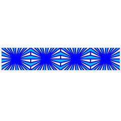 Retro Blue Pattern Flano Scarf (Large)