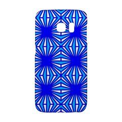 Retro Blue Pattern Galaxy S6 Edge