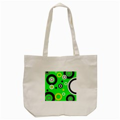 Florescent Green Yellow Abstract  Tote Bag (cream)