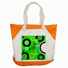Florescent Green Yellow Abstract  Accent Tote Bag