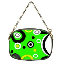 Florescent Green Yellow Abstract  Chain Purses (two Sides)