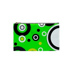 Florescent Green Yellow Abstract  Cosmetic Bag (small)