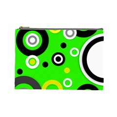 Florescent Green Yellow Abstract  Cosmetic Bag (large)