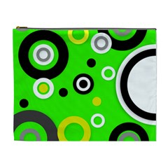 Florescent Green Yellow Abstract  Cosmetic Bag (xl)