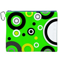 Florescent Green Yellow Abstract  Canvas Cosmetic Bag (XXXL)