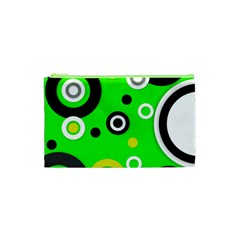 Florescent Green Yellow Abstract  Cosmetic Bag (XS)