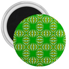 Retro Green Pattern 3  Magnets