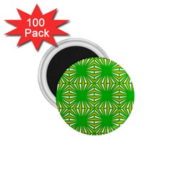 Retro Green Pattern 1 75  Magnets (100 Pack)