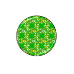 Retro Green Pattern Hat Clip Ball Marker (4 Pack)