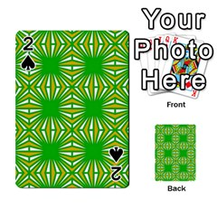 Retro Green Pattern Playing Cards 54 Designs