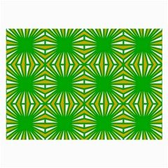 Retro Green Pattern Large Glasses Cloth