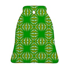 Retro Green Pattern Bell Ornament (2 Sides)