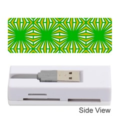 Retro Green Pattern Memory Card Reader (Stick)
