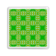 Retro Green Pattern Memory Card Reader (Square)
