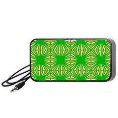 Retro Green Pattern Portable Speaker (black)